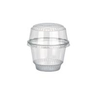 Clear round PET plastic dessert cup 280ml Ø98mm  H68mm