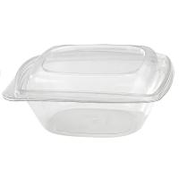 Saladeira quadrada transparente 1000ml 190x190mm H65mm