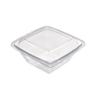 Saladeira quadrada transparente 1000ml 195x195mm H70mm