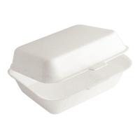 Embalagem de poliestireno amarelo com tampa 0ml   H66mm