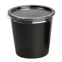 Clear PET plastic flat lid  Ø73mm