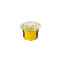 Clear round PET plastic portion cup 60ml Ø65mm  H28mm