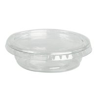 Clear round PET plastic portion cup 40ml Ø65mm  H20mm