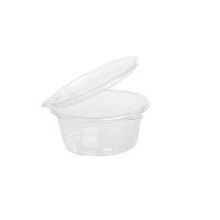 Mini potes translúcidos de PP com tampas transparentes 30ml Ø63mm  H18mm