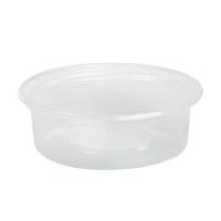 Mini potes PP translúcidos com tampas transparentes opcionais 150ml Ø70mm  H64mm