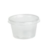 Mini potes PP translúcidos com tampas transparentes opcionais 110ml Ø70mm  H43mm