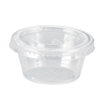Clear round PP plastic portion cup 100ml Ø70mm  H32mm