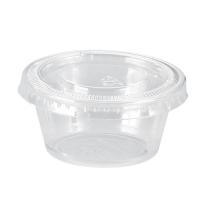 Mini potes PP translúcidos com tampas transparentes opcionais 60ml 70mm  H32mm