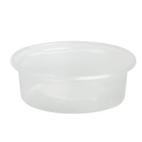 Mini potes PP translúcidos com tampas transparentes opcionais 60ml Ø70mm  H23mm