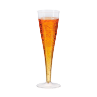 Taças altas para Champagne de plástico. 170ml Ø50mm  H200mm