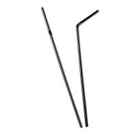 palhinhas flexíveis pretas  Ø5mm  H240mm