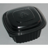 saladeira PP preta 500ml 137x137mm H60mm