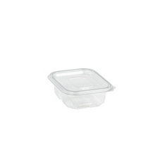 Rectangular clear PET box with hinged lid 150ml   H40mm