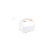 Caixa branca para bolos e doces com alça  200x200mm H170mm