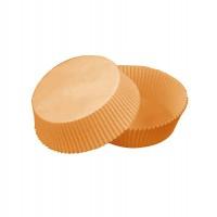 Caissette papier de cuisson ovale brune siliconée  65x50mm H40mm