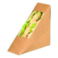 Sanduíche triangular Kraft com janela  55x120mm H120mm