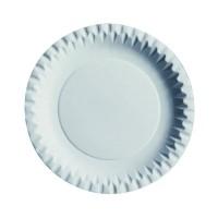 Prato de cartão redondo branco laminado  Ø180mm