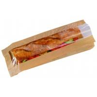 Saco para sanduiche com janela  120x40mm H340mm