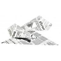 Cone de papel antigordura com motivo jornal 360ml 250x180mm H180mm