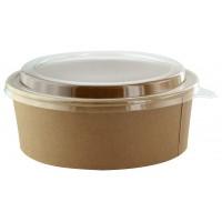 Saladeiras Buckaty Kraft + tampa PET 1300ml Ø185mm  H65mm