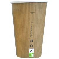 Copo de papelão e PLA 340ml 90mm  H132mm