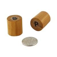 Set bambu: saI e pimenta  18x18mm H40mm