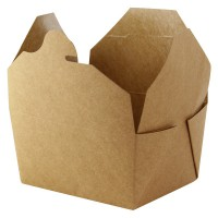 Mini caixa kraft para almoço 1000ml 215x160mm H50mm
