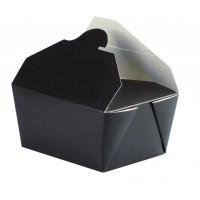Caixa preta para almoço 650ml 130x105mm H65mm