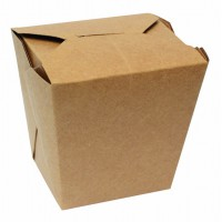 Caixa Kraft para pastas e noodles 750ml 102x90mm H103mm