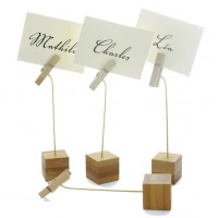 """""""Nak"""" sign clip with bamboo base  25x25mm H120mm"""