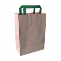 Mini saco castanho reciclado.  200x100mm H290mm